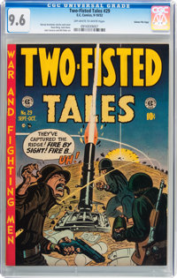Two-Fisted Tales #29 Gaines File pedigree 2/11 (EC, 1952) CGC NM+ 9.6 Off-white to white pages