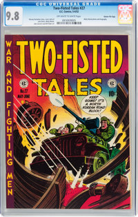 Two-Fisted Tales #27 Gaines File pedigree 2/10 (EC, 1952) CGC NM/MT 9.8 Off-white to white pages