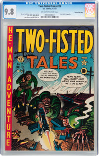 Two-Fisted Tales #25 Gaines File pedigree 2/10 (EC, 1952) CGC NM/MT 9.8 Off-white to white pages
