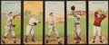 Baseball Cards:Lots, 1911 T201 Mecca Double Folders Collection (5). ...