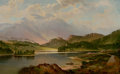 Fine Art - Painting, American:Antique  (Pre 1900), FREDERICK DEBOURG RICHARDS (American, 1822-1903). BenvenueRising Over Loch Achray, Scotland, 1875. Oil on canvas.22-1/...