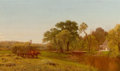 Fine Art - Painting, American:Antique  (Pre 1900), AARON DRAPER SHATTUCK (American, 1832-1928). The Hay Wain,Granby, Connecticut, circa 1870. Oil on canvas. 18-1/4 x30-1...