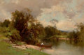 Fine Art - Painting, American:Other , GEORGE HENRY SMILLIE (American, 1840-1921). Gone Fishing .Oil on canvas. 16 x 24 inches (40.6 x 61.0 cm). Signed lower ...