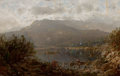 Fine Art - Painting, American, WILLIAM LOUIS SONNTAG (American, 1822-1900). Mountain Lake inthe Blue Ridge Mountains . Oil on canvas. 20 x 31 inches (...