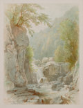 Fine Art - Painting, American:Antique  (Pre 1900), WILLIAM TROST RICHARDS (American, 1833-1905). Rice's Falls,Adirondacks, 1868. Watercolor on paper. Image: 6 x 4-1/2 inc...