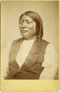 "Photography:Cabinet Photos, W. S. Soule, Photograph of Native American Indian ""Otter Belt""Comanche, ca. 1870s...."