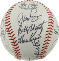 Autographs:Baseballs, 1989 8th Equitable Old Timers Classic Multi-Signed Baseball.Fifteen signatures have been collected on this baseball from th...