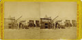 Photography:Stereo Cards, Stereoview Wild West Town of Corrine, Utah Territory ca 1870s....
