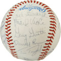 Autographs:Baseballs, 1984 Minnesota Twins Team Signed Baseball. Twenty-seven signaturesfrom the 1984 Minnesota Twins team are offered here on t...