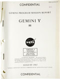 Explorers:Space Exploration, Gemini 5 Mission Archive. Gemini 5 was a 1965 manned spaceflight byGordon Cooper and Pete Conrad. Included here is a collec... (Total:1 Item)