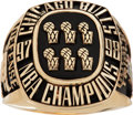 Basketball Collectibles:Others, 1997-98 Chicago Bulls NBA Championship Limited Edition Ring....