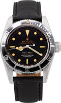 "Timepieces:Wristwatch, Rolex Rare Ref. 6538 Big Crown Gilt Four Line ""James Bond"" Submariner, circa 1957. ..."
