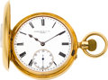 Timepieces:Pocket (pre 1900) , Streeter & Co. Ltd. London 18k Gold Demi-Hunter, circa 1880....