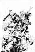 Original Comic Art:Covers, Jim Cheung and Mark Morales (after Mike Zeck) New Avengers: TheIlluminati #3 Cover Original Art (Marvel, 2007...