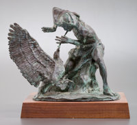 FRITZ WHITE (American, b. 1930) Dancing Back the Old Ways Bronze 12-1/2 inches (31.8 cm) Ed. 4