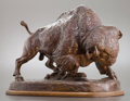 Sculpture, WILLIAM ROBINSON LEIGH (American, 1866-1955). Buffalo, 1955. Bronze with patina. 16 inches (40.6 cm). A/P. Signed and nu...