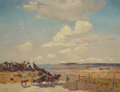Paintings, FREMONT ELLIS (American, 1897-1985). New Mexico Landscape with Wagon. Oil on canvas laid on board. 35 x 45 inches (88.9 ...