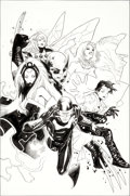Original Comic Art:Covers, Olivier Coipel and Mark Morales X-Men #1E Limited VariantCover Original Art (Marvel, 2010)....