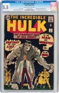 Silver Age (1956-1969):Superhero, The Incredible Hulk #1 (Marvel, 1962) CGC FN- 5.5 Cream to off-white pages....
