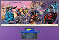Original Comic Art:Miscellaneous, Joe Chiodo and Jim Lee X-Men #1 (Special Collector'sEdition) Gatefold Cover Hand Colored Production Cel (Marvel, ...(Total: 2 Items)