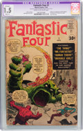 Silver Age (1956-1969):Superhero, Fantastic Four #1 (Marvel, 1961) CGC Apparent FR/GD 1.5 Slight (A) Cream to off-white pages....