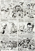 Original Comic Art:Panel Pages, Jack Kirby and Frank Giacoia Tales of Suspense #86 CaptainAmerica Page 5 Original Art (Marvel, 1967)....