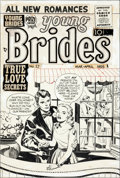 Original Comic Art:Covers, Jack Kirby Young Brides #27 Cover Original Art (Prize,1956)....