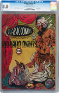 Golden Age (1938-1955):Classics Illustrated, Classic Comics #8 Arabian Nights - First Edition (Gilberton, 1943)CGC VF 8.0 Cream to off-white pages....