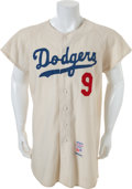 Baseball Collectibles:Uniforms, 1963 Wally Moon Game Worn Los Angeles Dodgers Jersey....