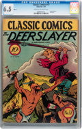 Golden Age (1938-1955):Classics Illustrated, Classic Comics #17 The Deerslayer - First Edition (Gilberton, 1944)CGC FN+ 6.5 Cream to off-white pages....