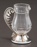 Silver Holloware, Continental:Holloware, A DUTCH SILVER AND ROCK CRYSTAL JUG . Unidentified maker,Netherlands, circa 1890. Marks: PRJ, (sword) . 3-7/8 incheshi...
