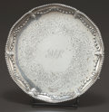 Silver Holloware, British:Holloware, A GEORGE III SILVER SALVER . John Cox, London, England, circa1772-1773. Marks: (lion passant), (leopard's head crowned),...
