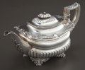Silver Holloware, British:Holloware, A WILLIAM EATON GEORGE IV SILVER TEAPOT . William Eaton, London,England, circa 1820-1821. Marks: (lion passant), (leopard's...