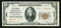 National Bank Notes:Rhode Island, Providence, RI - $20 1929 Ty. 2 The Columbus NB Ch. # 13981. ...