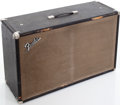 Musical Instruments:Amplifiers, PA, & Effects, Late 1960s Fender 2 X 12 Black Speaker Cabinet....