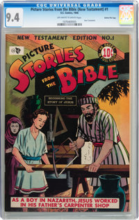 Picture Stories from the Bible New Testament Edition #1 Gaines File pedigree 4/12 (EC, 1946) CGC NM 9.4 Off-white to whi...