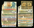 Canadian Currency: , Four Shinplasters Plus $37 Face Canadian Plus Mexico Plus More..... (Total: 70 notes)