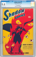 Golden Age (1938-1955):Crime, Shadow Comics V8#7 (Street & Smith, 1948) CGC NM 9.4 Off-white to white pages....