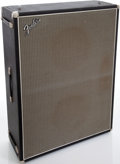 Musical Instruments:Amplifiers, PA, & Effects, Early 1970s Fender Bassman 2 X 15 Black Speaker Cabinet....
