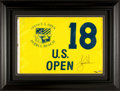 "Golf Collectibles:Autographs, Tiger Woods Signed ""Upper Deck Authenticated"" Flag. ..."