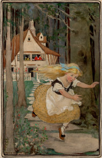 JESSIE WILLCOX SMITH (American, 1863-1935) Goldilocks and the Three Bears, Swift's Premium Soap Products calend