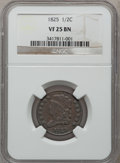 Half Cents: , 1825 1/2 C VF25 NGC. NGC Census: (12/345). PCGS Population (9/251).Mintage: 63,000. Numismedia Wsl. Price for problem free...