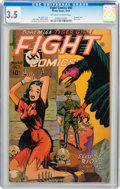 Golden Age (1938-1955):War, Fight Comics #40 (Fiction House, 1945) CGC VG- 3.5 Off-white towhite pages....