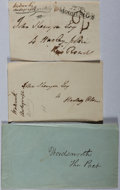 Autographs:Authors, William Wordsworth (1770-1850, English poet). Two Autograph Addresses... (Total: 2 Items)