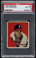 Baseball Cards:Singles (1940-1949), 1949 Bowman Curt Simmons #14 PSA NM-MT 8 - Only Four Higher....
