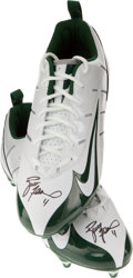 Football Collectibles:Others, Brett Favre Signed Nike Cleats. ...