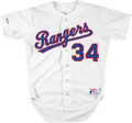 """Baseball Collectibles:Uniforms, 1989 """"Helsley"""" Texas Rangers Authentic Jersey...."""
