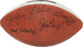 """Football Collectibles:Balls, Super Bowl MVPs Multi Signed Leather """"Wilson"""" Football...."""
