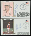 Baseball Collectibles:Others, Satchel Paige and Nolan Ryan Signed First Day Covers Lot of 2....