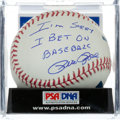 "Autographs:Baseballs, Pete Rose ""I'm Sorry I Bet On Baseball"" Inscription Single Signed Baseball, PSA, DNA Mint 9...."